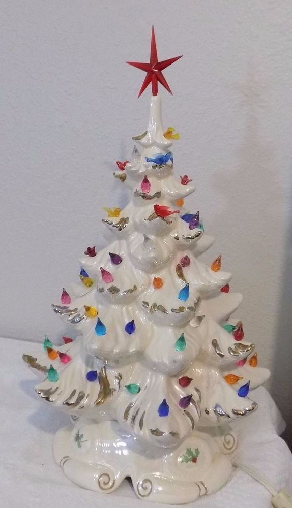 1960,s Atlantic Mold Ceramic 19\ - decorative christmas trees