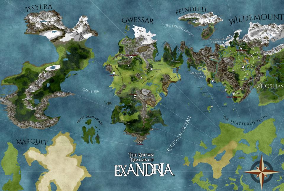 No Spoilers] WIP Map of Exandria in Wonderdraft