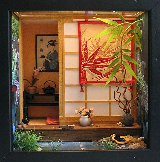 vitrine miniature japon vitrina pinterest miniature. Black Bedroom Furniture Sets. Home Design Ideas