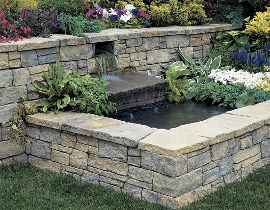 Love This Retaining Wall To A Pond On The Never Going To Happen Wish List Water Features In The Garden Fence Landscaping Backyard Fences