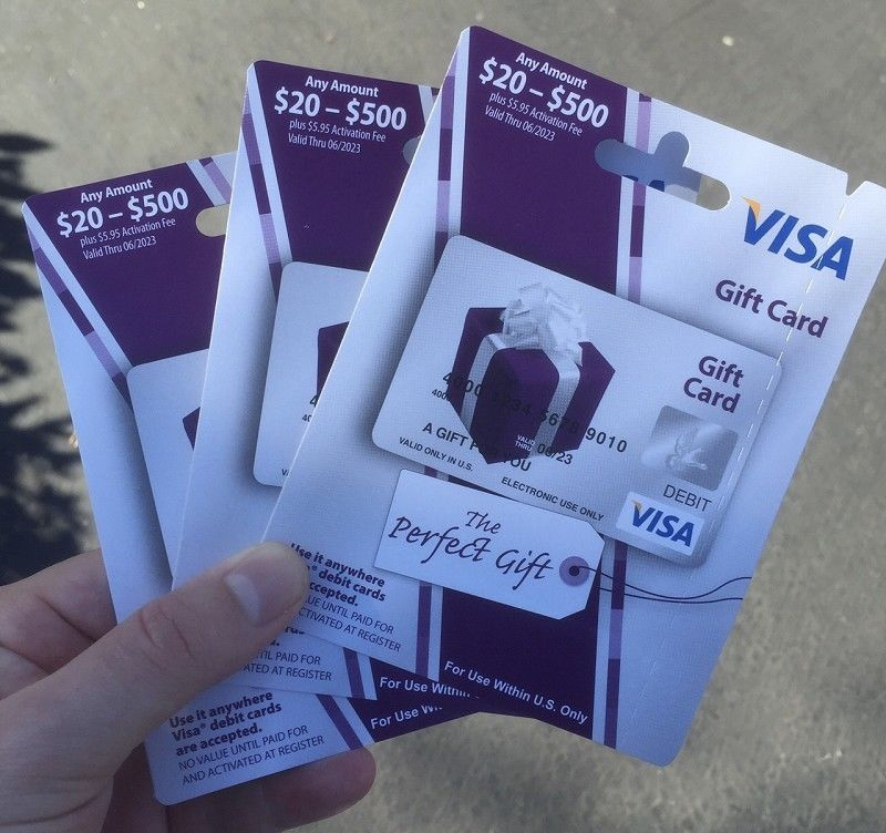Gift Cards: $500 Visa Card, Free Priority Shipping, Ready To Use ...