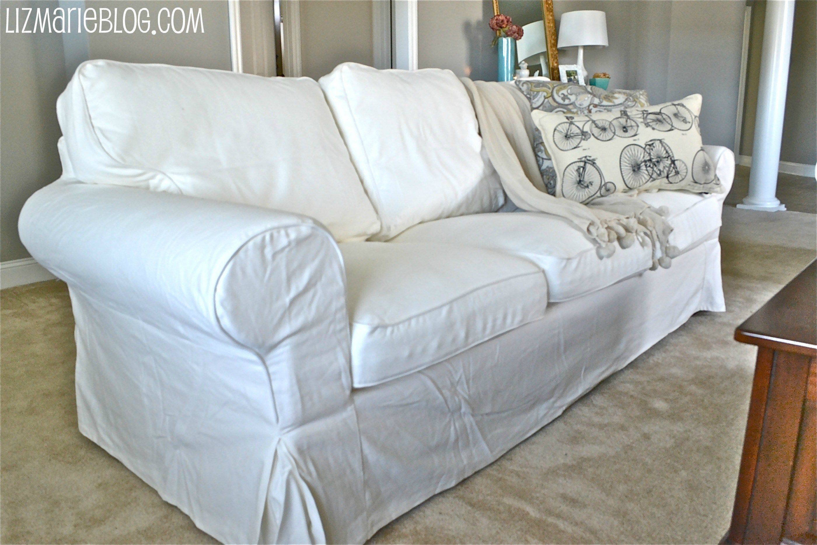 New White Slipcover Ikea Couches White couch cover