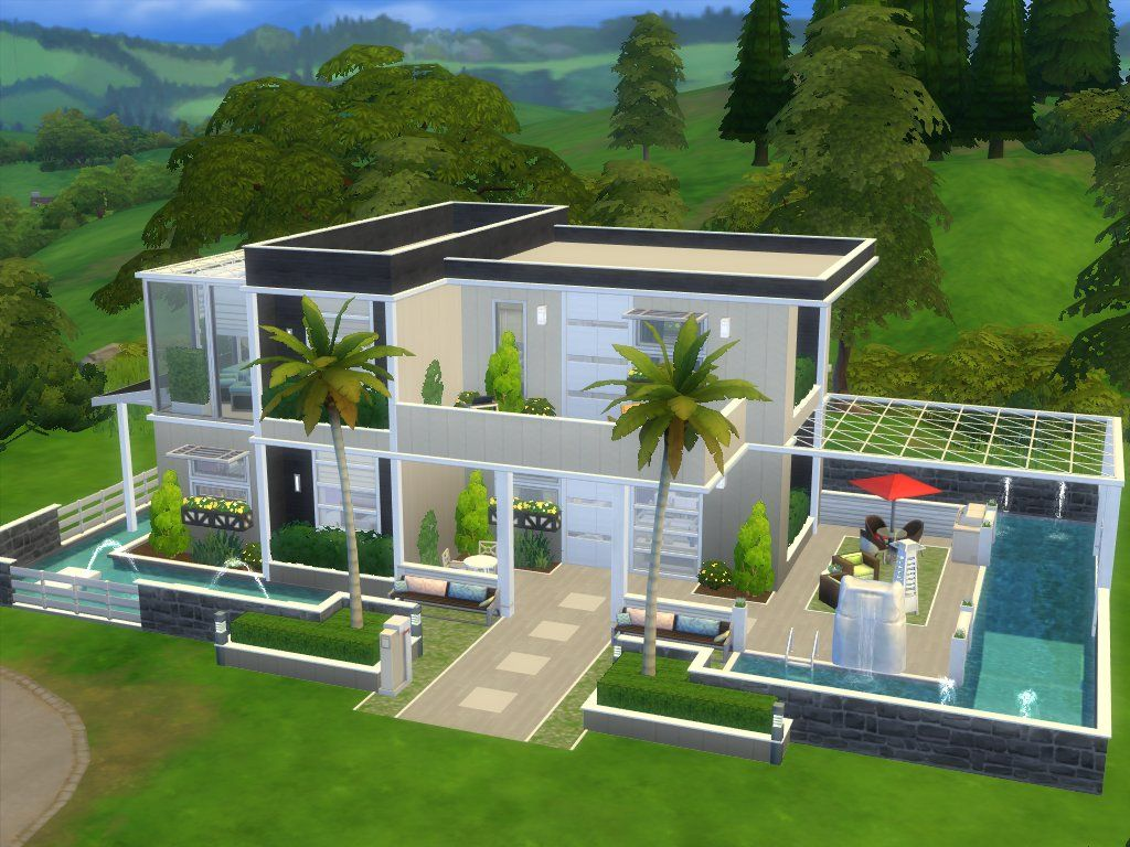 Mod The Sims Hilltop Abode No Cc Sims House Sims 4 Modern House Sims House Design