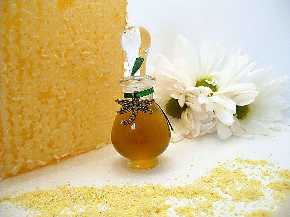 For the Love of Bees Natural Perfume Honey Vanilla Fruit Green Floral Pure Botanical Extrait Fragrance. $150.00, via Etsy.
