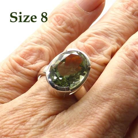 Prasiolite Pendant   Large Faceted Oval   925 Sterling Silver   AKA Green Amethyst   Natural Unheated   Crystal Heart Melbourne Australia since 1986                                                                                                                                                                                 Más