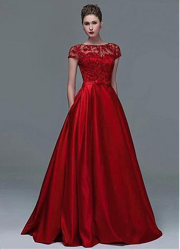 Elegent Tulle   d   Vestidos elegantes, Vestidos rojos