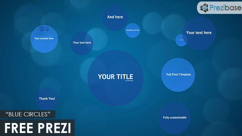 free prezi template blue circles - Prezi Resume Template