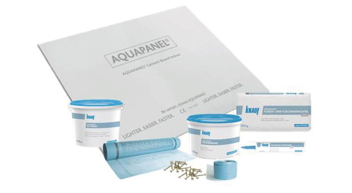 Aquapanel cement board indoor for wetroom areas
