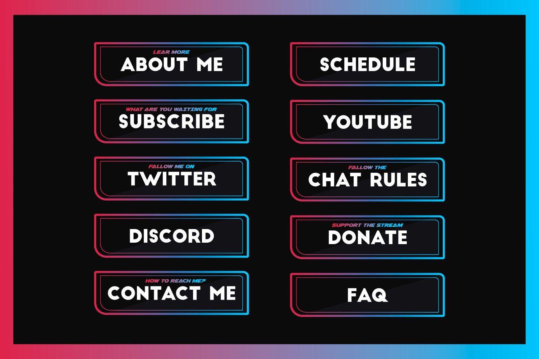 Retro Twitch Panels | Stream Queen | Retro, Etsy