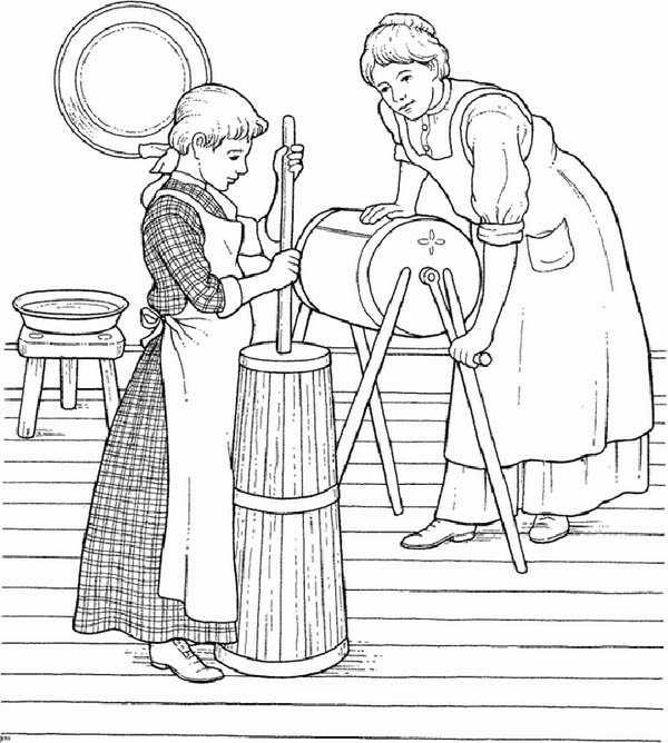 Farm Life Coloring Pages A Little Girl Helping Her Mother Bulk Color Witch Coloring Pages Cool Coloring Pages Precious Moments Coloring Pages