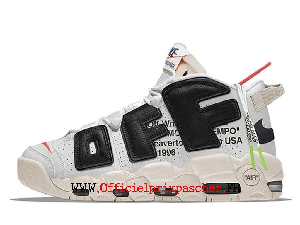 Nike White Chaussure Coussin Dair Uptempo Off Classique De wknO08XP