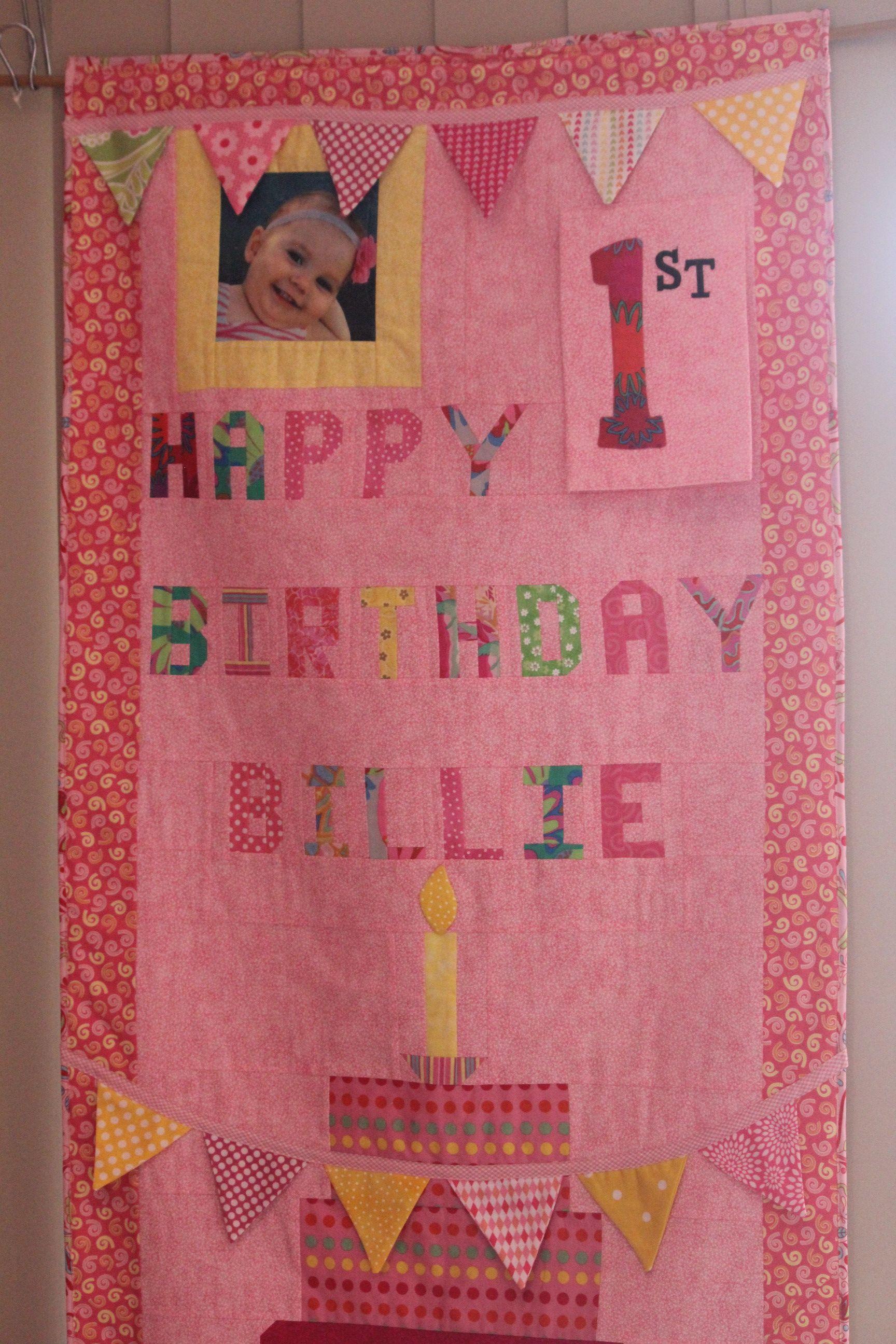 Billie's 1st Birthday banner