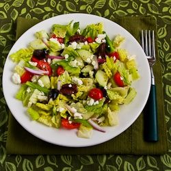 Recipe For American Greek Salad From Kalynskitchen