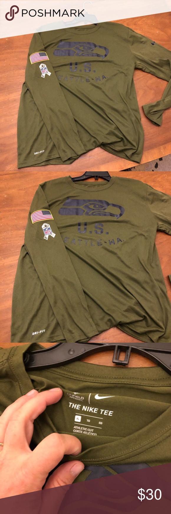 NFL NIKE SALUTE TO SERVICE SEATTLE SEAHAWKS NWT salute to service Seattle Seahawks Dri-fit Long Sleeve Shirt Nike Shirts Tees - Long Sleeve #salutetoservice NFL NIKE SALUTE TO SERVICE SEATTLE SEAHAWKS NWT salute to service Seattle Seahawks Dri-fit Long Sleeve Shirt Nike Shirts Tees - Long Sleeve #salutetoservice