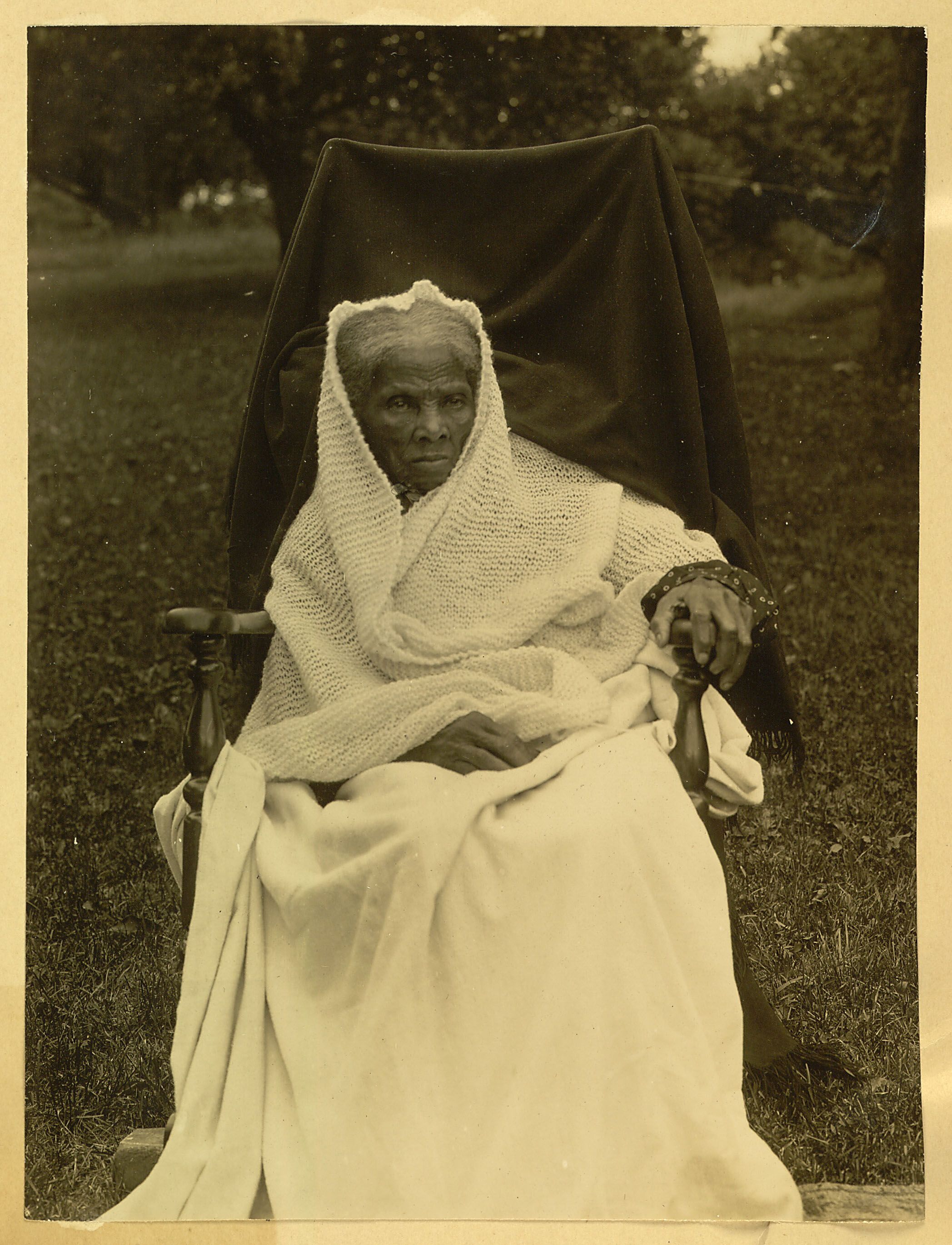 Harriet Tubman Full Length Portrait Seated In Chair