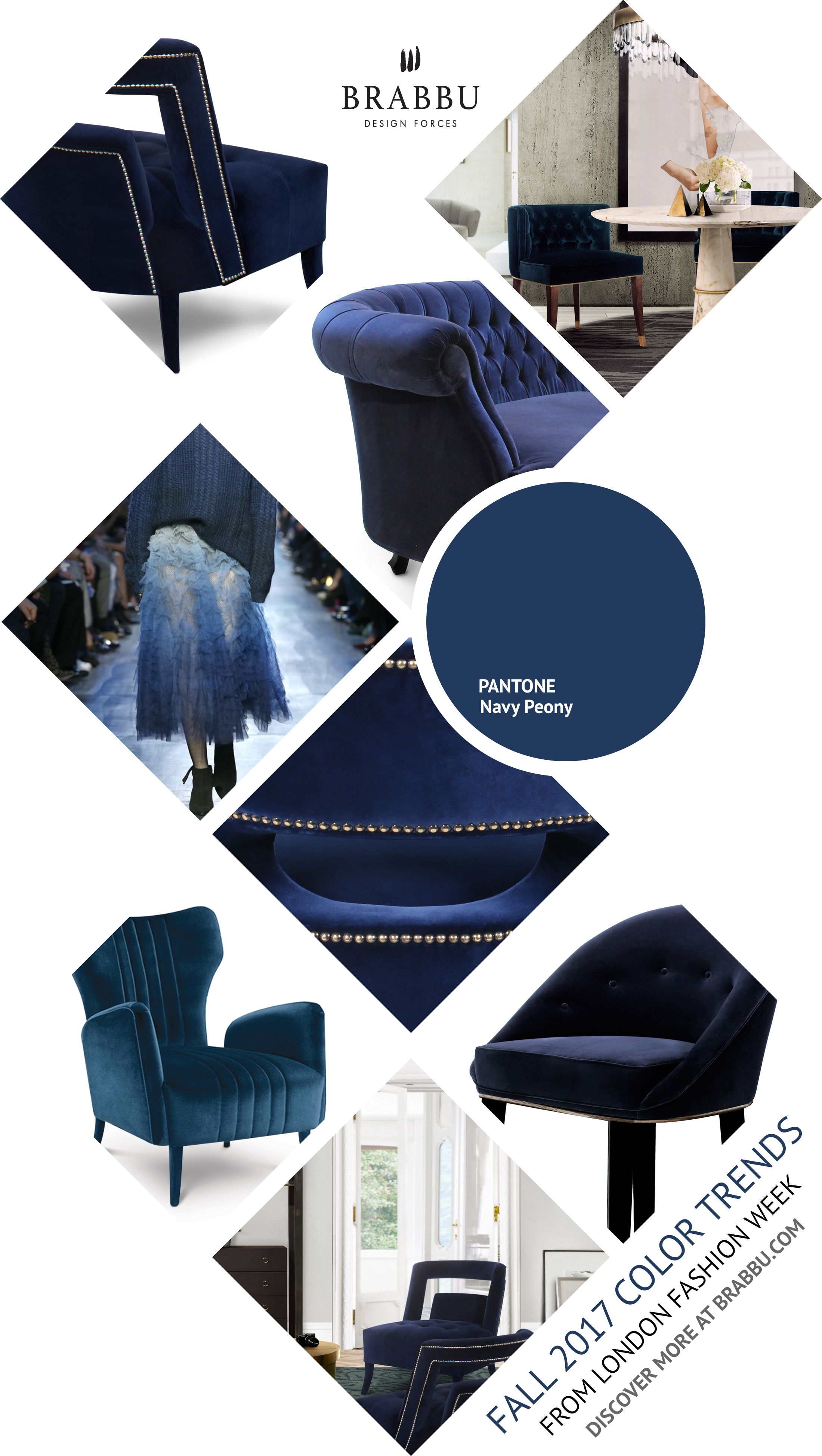 Fall 2017 Color Trends From London Fashion Week Navy Peony