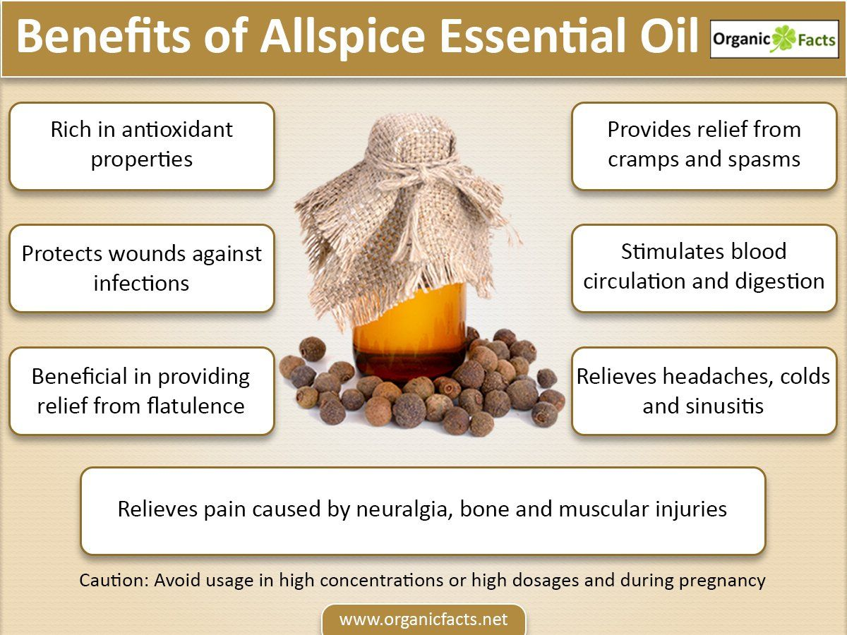 The Health Benefits Of Allspice Essential Oil Can Be Attributed To Its Properties Like Anes Essential Oils Health Benefits Essential Oils Essential Oils Health