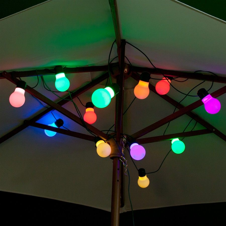 Perfect For A Summer Evening Bbq Festoon Lights 12 Colour Changing Solar Party Globe Light