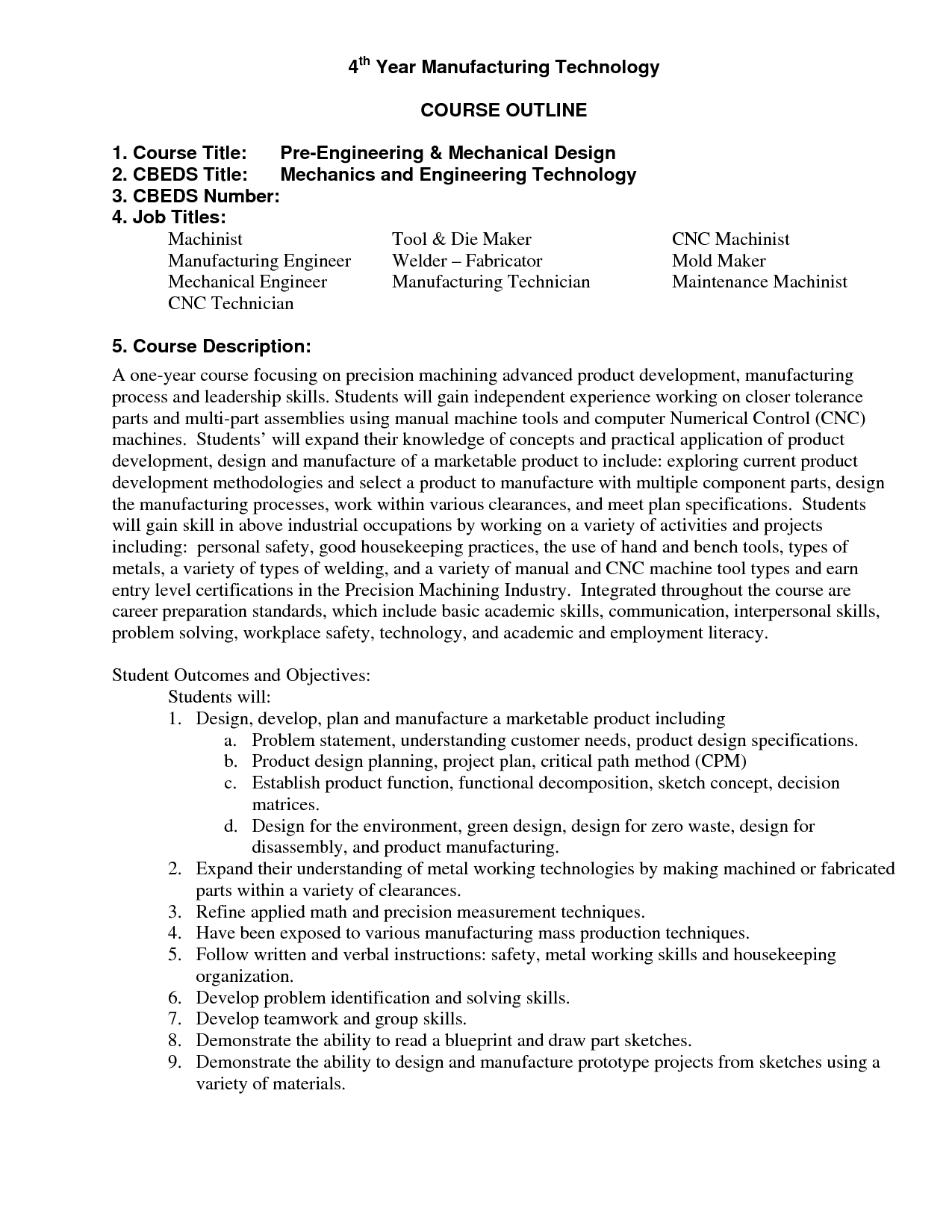 examples of a machinist resume sample resume format for fresh cnc ...