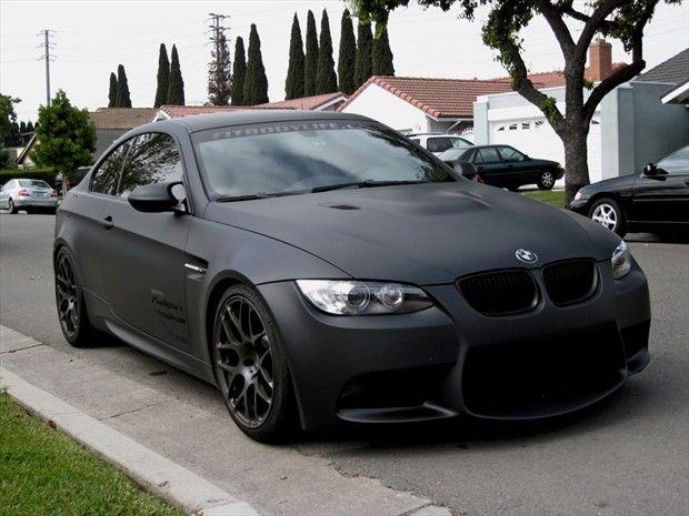 Bmw E92 M3 Matte Black Front Bmw Matte Black Bmw Bmw Cars