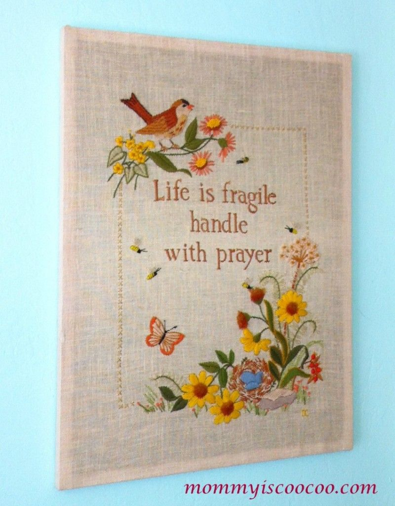 life is fragile hadle with prayer