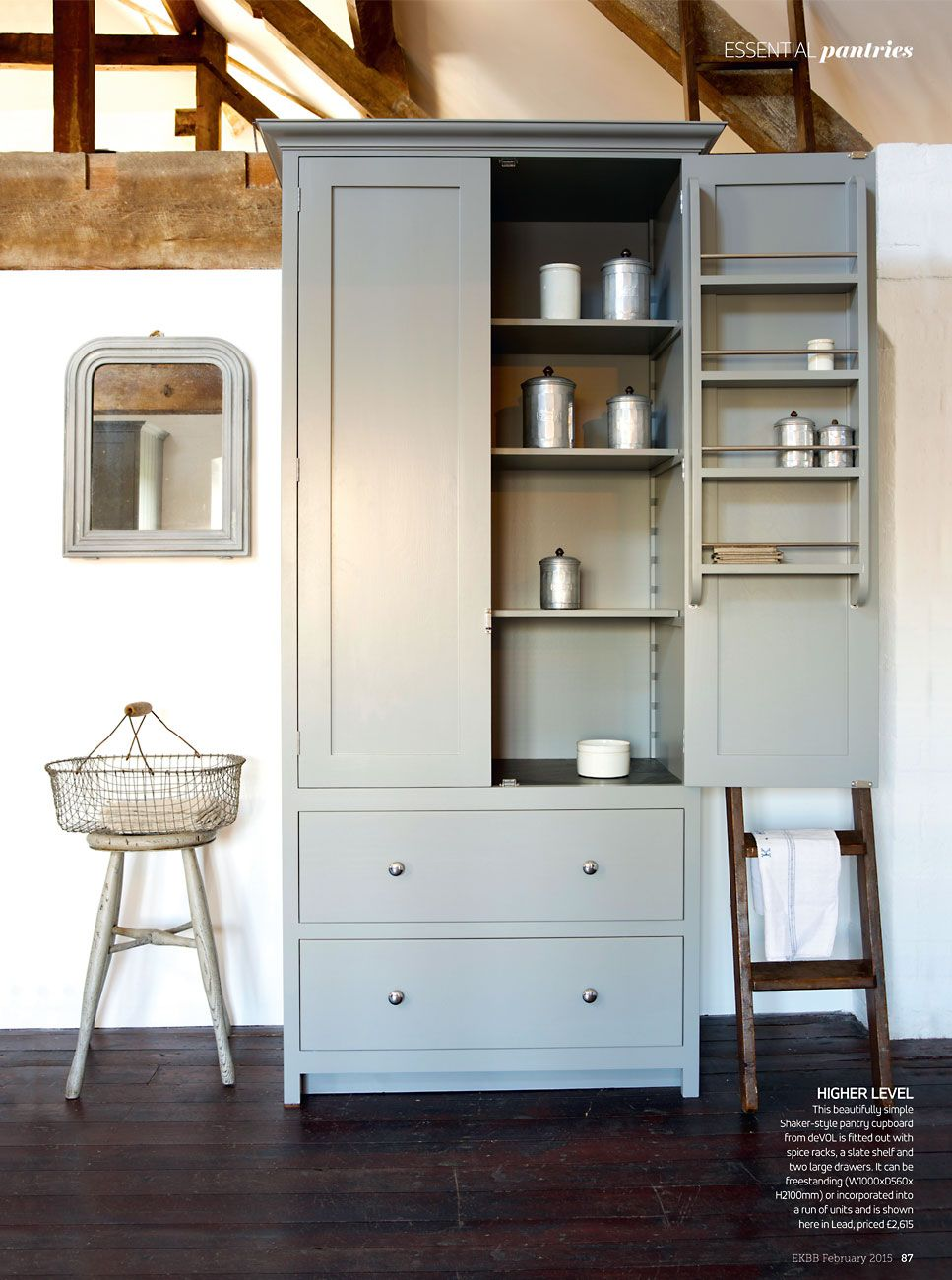 Our real shaker pantry cupboard has received an amazing full page feature in the february 2015 issue of ekbb mag