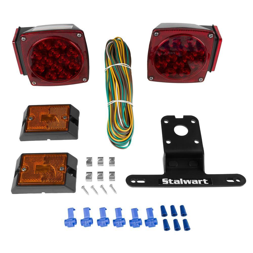 Stalwart 12 Volt Led Trailer Light Kit Led Trailer Lights 12v Led Led