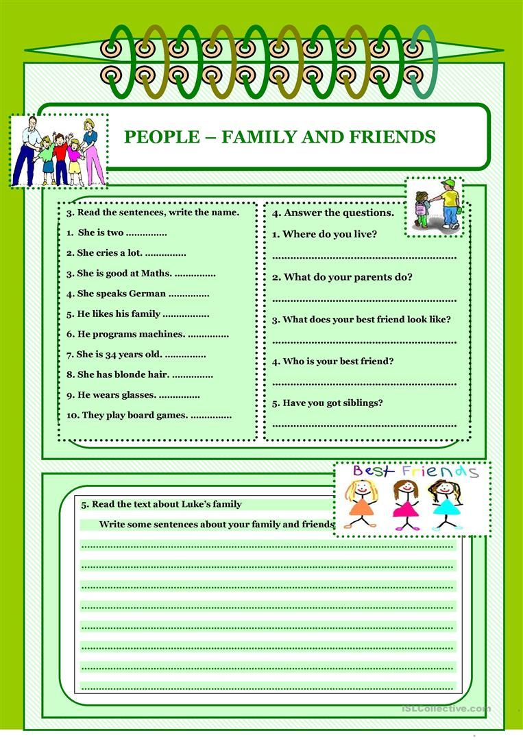 Let S Read And Write About 3 Family And Friends Worksheet Free Esl Printable Worksheets Mad Reading Writing Esl Reading Comprehension Writing Skills [ 1079 x 763 Pixel ]