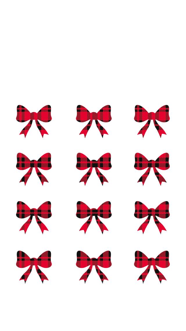 buffalo plaid christmas bows. iphone wallpaper via Miss