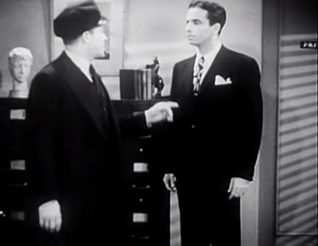 Frank Jenks, John Shay (unbilled, as Jeffry Dodd) | The Missing Corpse (1945)