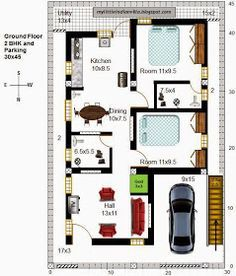 28 R21 2BHK in 30x45 North facing Requested Plan