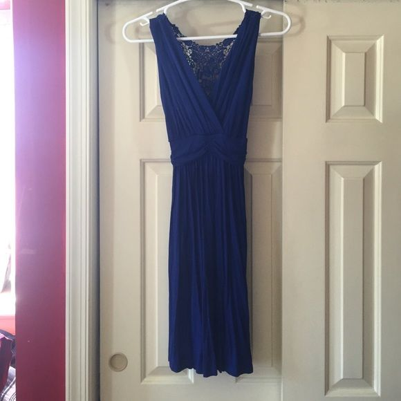 "Gilli royal blue jersey crochet back dress small Comfy, worn once, no pilling, I'm 5'6"" for reference Gilli Dresses Mini"