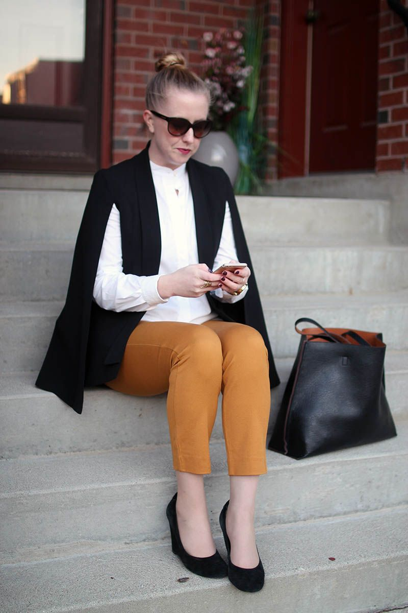 style-blueprint.com mural nordstrom cape blazer // old navy pixie ...