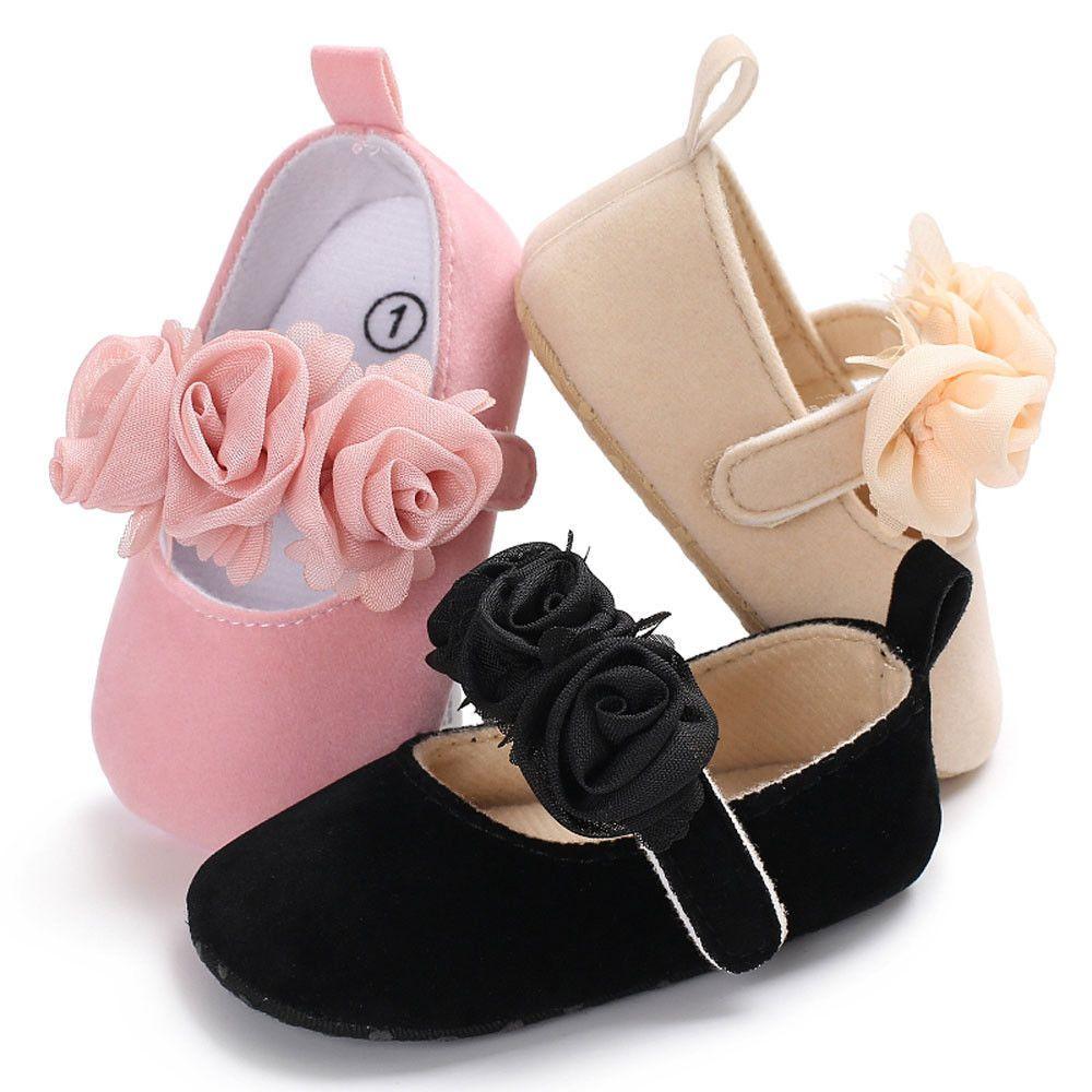 Toddler Newborn Baby Boy Girl Crib Shoes Leather Soft Sole Prewalker Sneakers UK