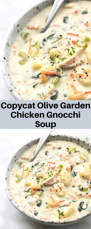 Copycat Olive Garden Chicken Gnocchi Soup in 2020 Olive
