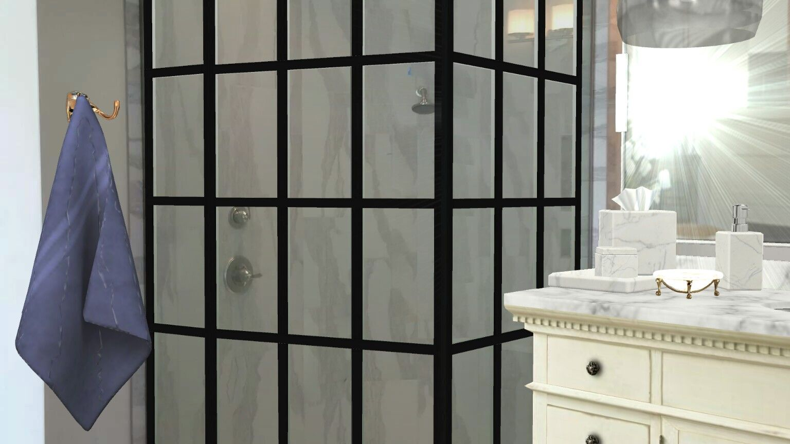 gridscape series custom factory windowpane shower door by coastal shower doors via homestyler