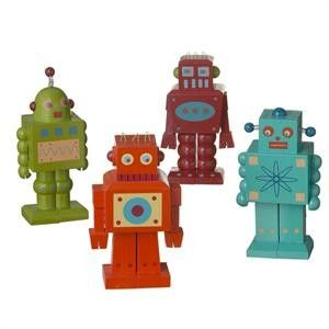 these are wood robots too