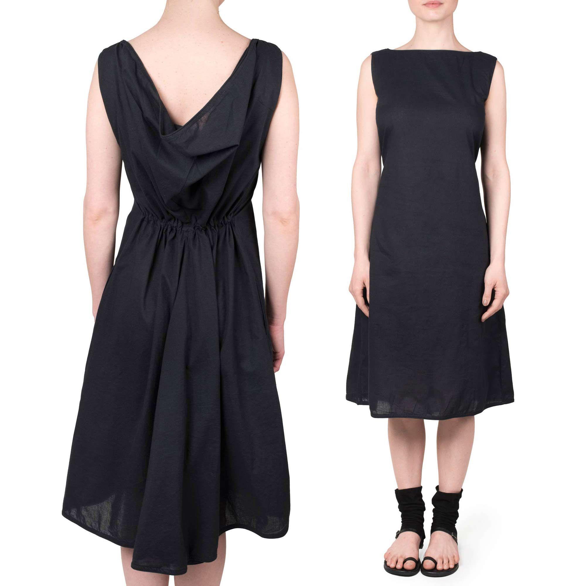Robe Dos Devant Idees Vestimentaires Robe Robe Noire