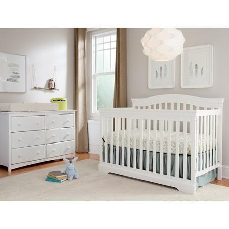 Broyhill Kids Bowen Heights 4-in-1 Convertible Crib, White | Baby ...