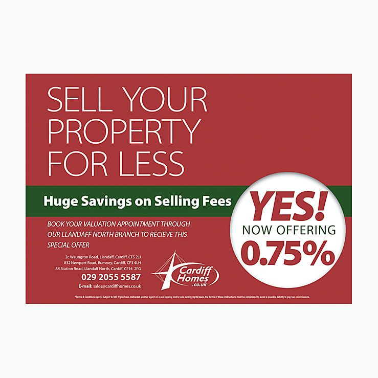 Sell Your Property for less Estate agents flyer Estate Agents