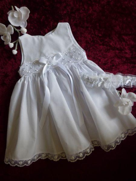 Taufkleid, Mädchen, Festkleid, 2-teilig,Baumwolle (mit ...