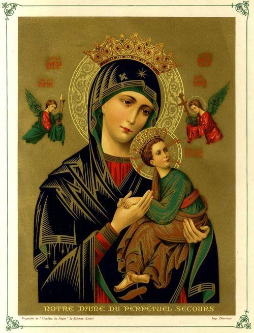 Notre Dame Du Perpétuel Secours : notre, perpétuel, secours, Notre-Dame, Perpétuel, Secours, 1930s, French, Lithograph, Perpetual, Help., Mother, Images,, Wallpaper,, Blessed
