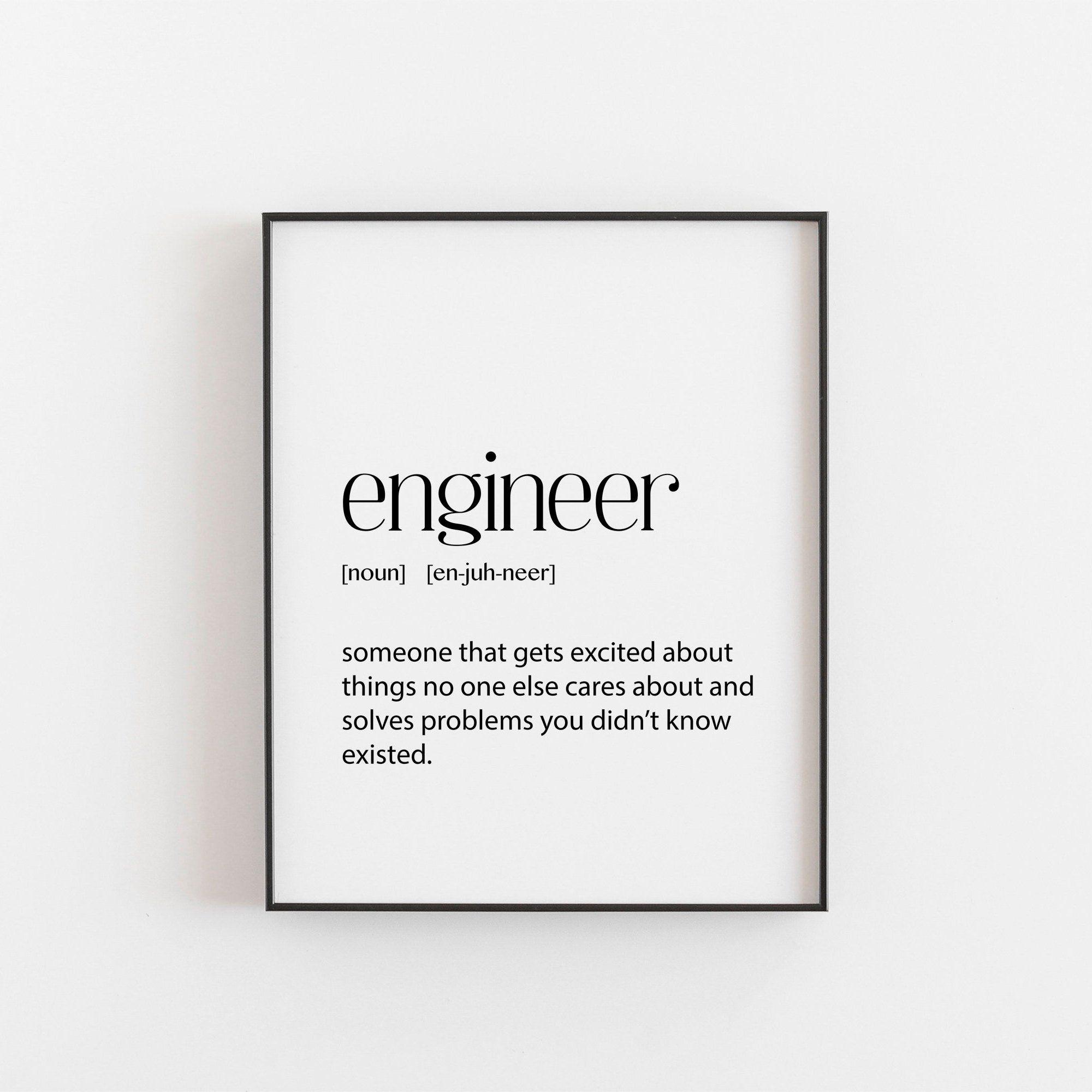 engineer engineer gift printable wall art home decor digital