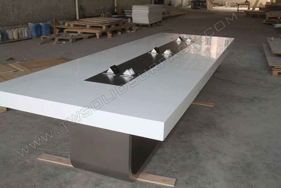 Acrylic Artificial Stone Boardroom Conference Desk Modern Jpg 912 612 Modern Conference Table Modern Conference Table Design Conference Room Design