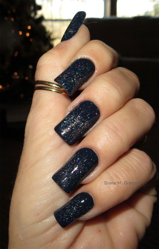 black acrylic nails with design - Black Acrylic Nails With Design Nail Design Art Pinterest