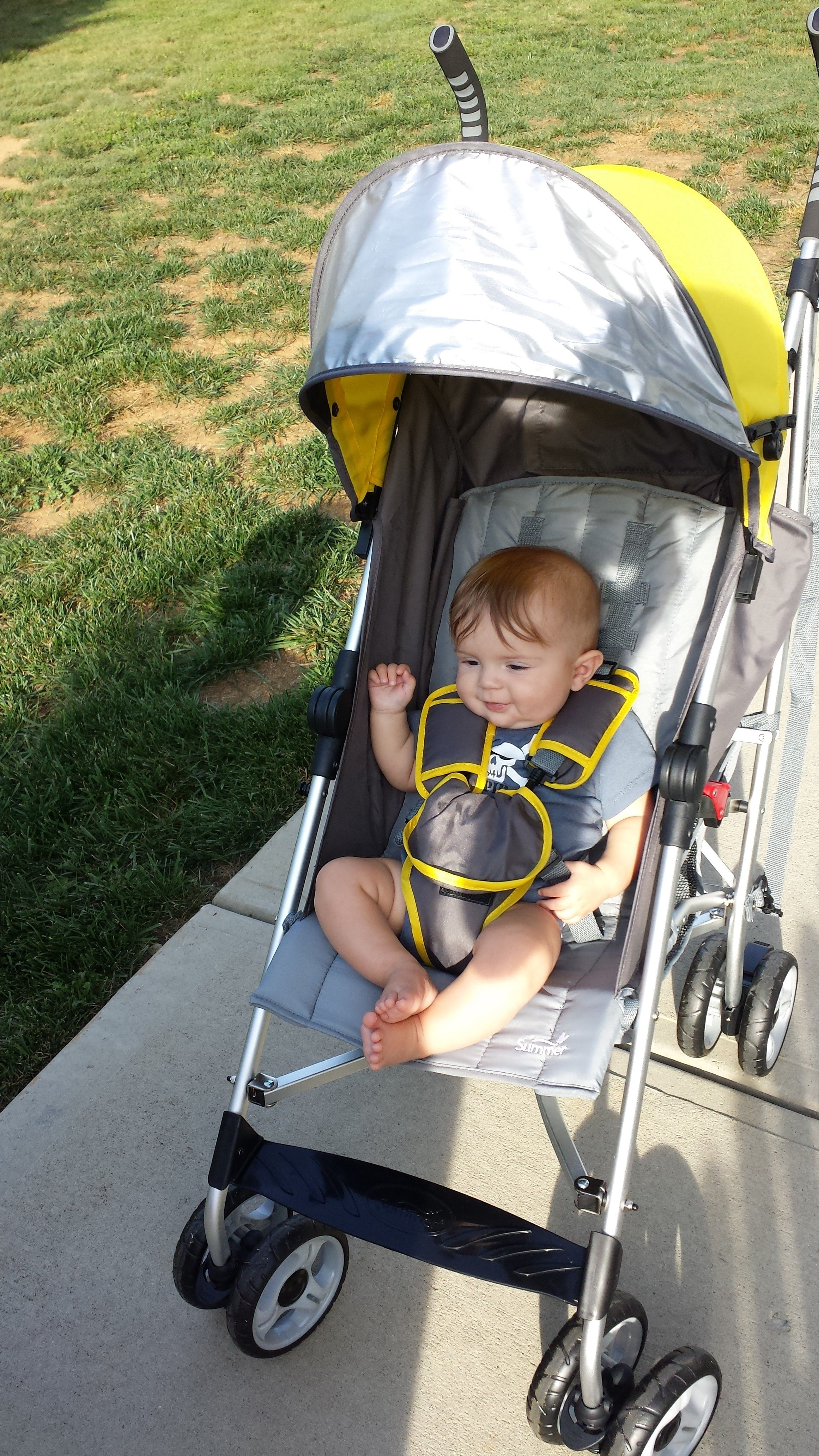 Onthego w/ baby? Place items in the basket below your