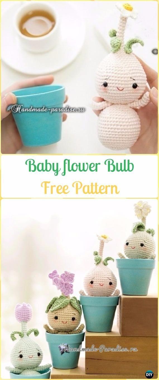 Crochet Baby Flower Plant Bulb Dolls Free Pattern - Patrones libres ...