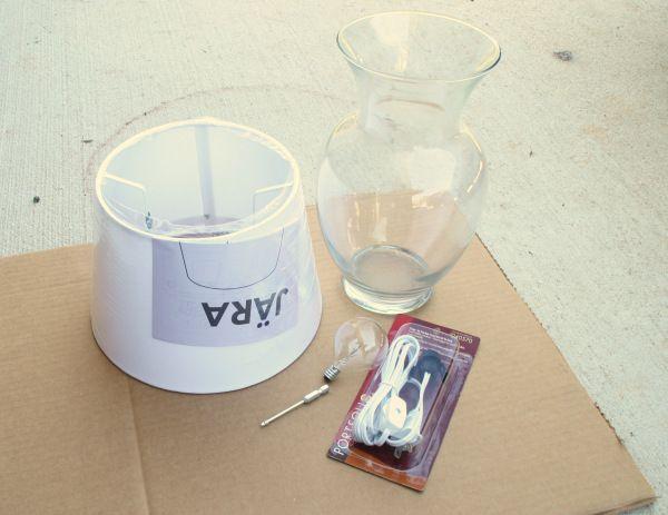 Diy Glass Vase Lamp Supplies Beta Pinterest Glass