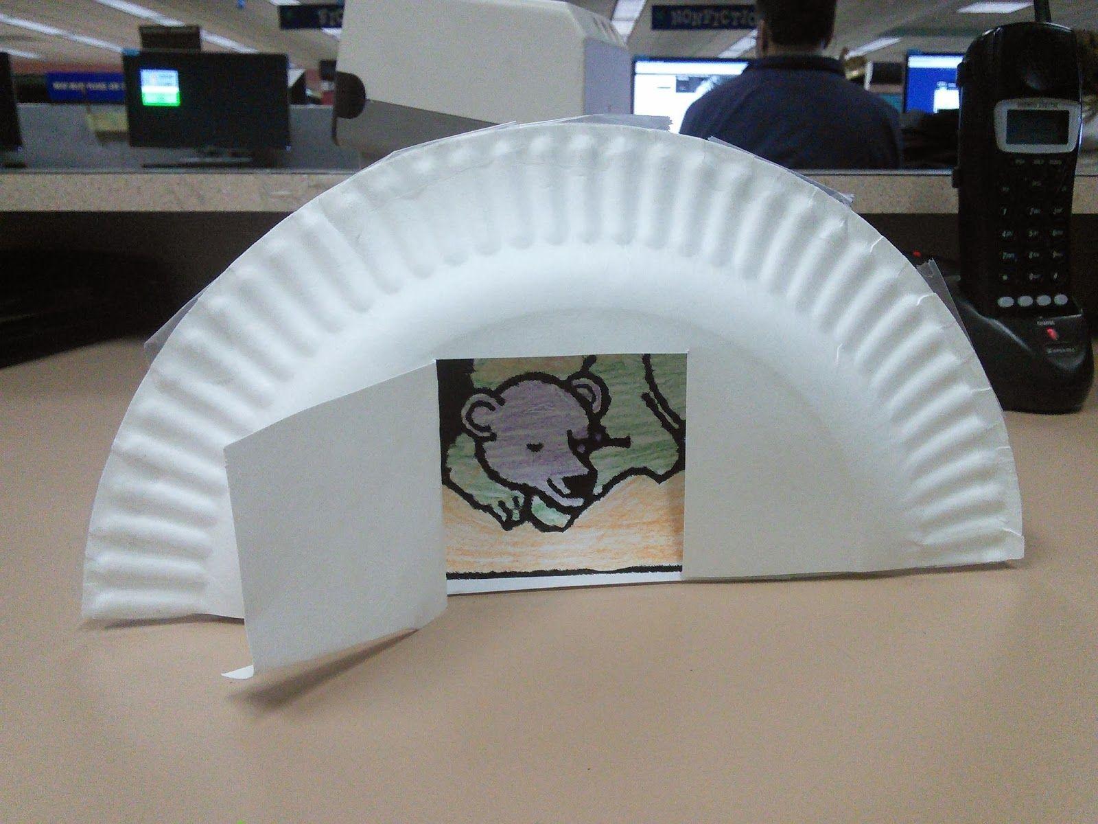 Hibernating bear cave craft but it needs more colors for Hibernation crafts for kids