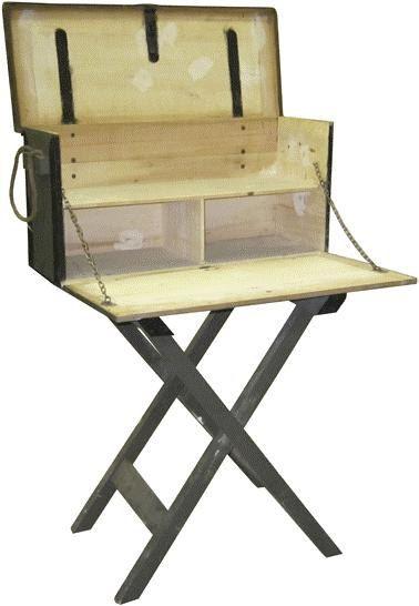 Portable Exhibition Table : Vintage industrial portable transportable desk table chest